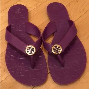 Purple Tory Burch jelly classic sandals.Worn once!